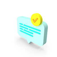 Chat Check Icon PNG & PSD Images