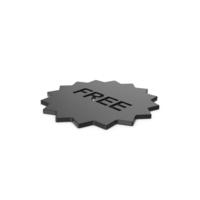 Black Symbol Free Badge PNG & PSD Images