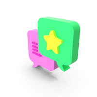 Chat Star Icon PNG & PSD Images