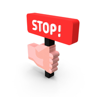 Hand with Stop Plate Icon PNG & PSD Images