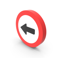 Left Way Icon PNG & PSD Images