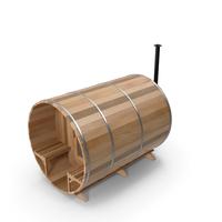 Red Cedar Barrel Sauna PNG & PSD Images