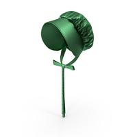 Emerald Satin Bonnet Hat PNG & PSD Images