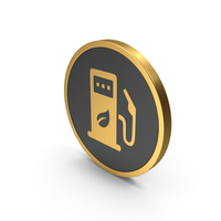 Gold Eco Station Icon PNG & PSD Images