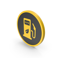 Yellow Eco Station Icon PNG & PSD Images