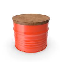 Steel Drum Barrel Table PNG & PSD Images