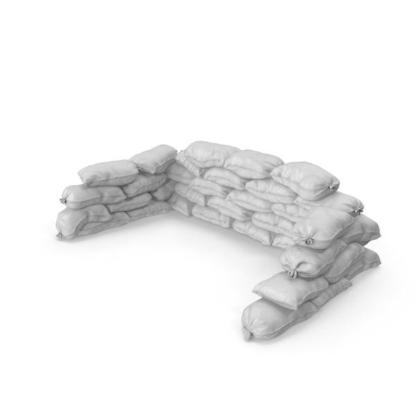 White Sandbag Barricade PNG & PSD Images
