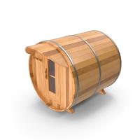 Wooden Barrel Outdoor Sauna PNG & PSD Images