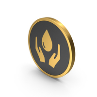 Gold Icon Save Water PNG & PSD Images