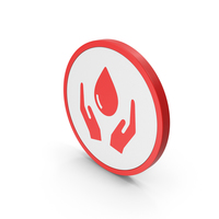 Red Save Water Icon PNG & PSD Images