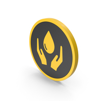 Icon Save Water Yellow PNG & PSD Images
