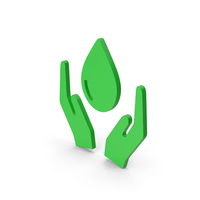 Symbol Save Water Green PNG & PSD Images