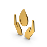 Symbol Save Water Gold PNG & PSD Images