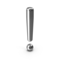 Exclamation Mark Silver PNG & PSD Images