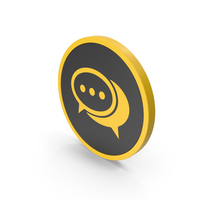 Yellow Chatting Icon PNG & PSD Images