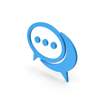 Blue Chatting Symbol PNG & PSD Images