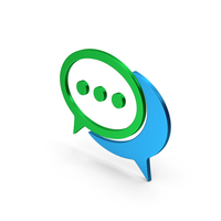 Symbol Chatting Colored Metallic PNG & PSD Images