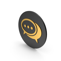 Gold Chatting Icon PNG & PSD Images
