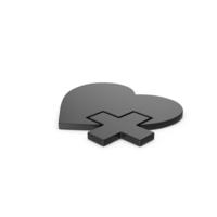 Black Symbol Medical Heart PNG & PSD Images