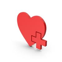 Symbol Medical Heart Red PNG & PSD Images