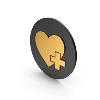Medical Heart Gold Icon PNG & PSD Images