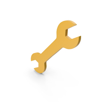 Yellow Wrench Symbol PNG & PSD Images