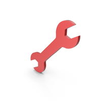 Red Wrench Symbol PNG & PSD Images