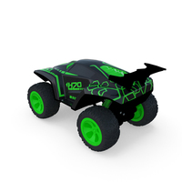 Toy Rc Black Green Car PNG & PSD Images