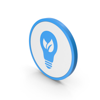 Icon Save Energy Blue PNG & PSD Images