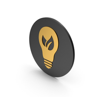 Save Energy Gold Icon PNG & PSD Images