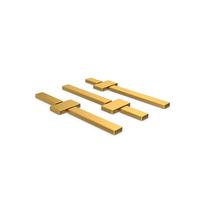 Gold Symbol Adjustments PNG & PSD Images