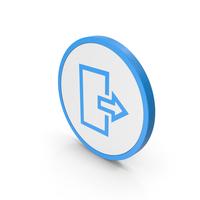 Icon Logout Blue PNG & PSD Images