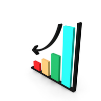 Loss Chart Icon PNG & PSD Images