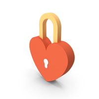 Love Padlock Icon PNG & PSD Images