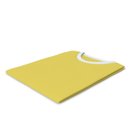 Male Crew Neck Folded White And Yellow PNG & PSD Images