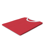 Male Crew Neck Folded White And Red PNG & PSD Images