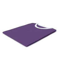 Male Crew Neck Folded White And Purple PNG & PSD Images