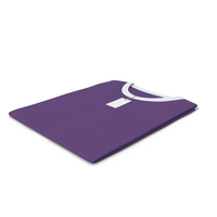 Male Crew Neck Folded With Tag White And Purple PNG & PSD Images