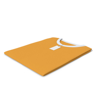 Male Crew Neck Folded With Tag White And Orange PNG & PSD Images