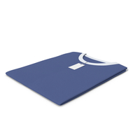 Male Crew Neck Folded With Tag White And Dark Blue PNG & PSD Images