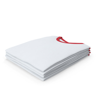 Male Crew Neck Folded Stacked White And Red PNG & PSD Images