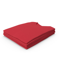 Male Crew Neck Folded Stacked Red PNG & PSD Images