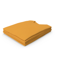Male Crew Neck Folded Stacked Orange PNG & PSD Images