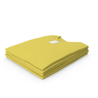 Male Crew Neck Folded Stacked With Tag Yellow PNG & PSD Images