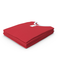 Male Crew Neck Folded Stacked With Tag White And Red PNG & PSD Images