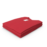 Male Crew Neck Folded Stacked With Tag Red PNG & PSD Images