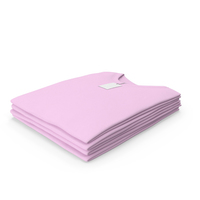 Male Crew Neck Folded Stacked With Tag Pink PNG & PSD Images