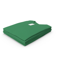 Male Crew Neck Folded Stacked With Tag Green PNG & PSD Images
