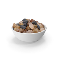 Mixed Raisins in a Bowl PNG & PSD Images