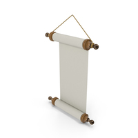 Paper Scroll Wall Hanging PNG & PSD Images
